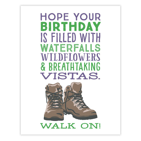 Walk On Birthday Card