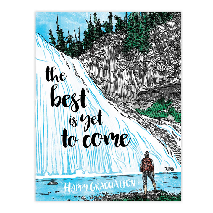 Best is Yet to Come Graduation Card by Waterknot