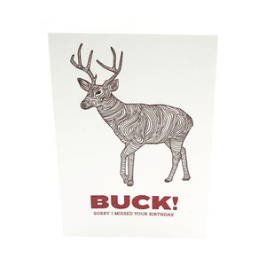 Buck Birthday Card
