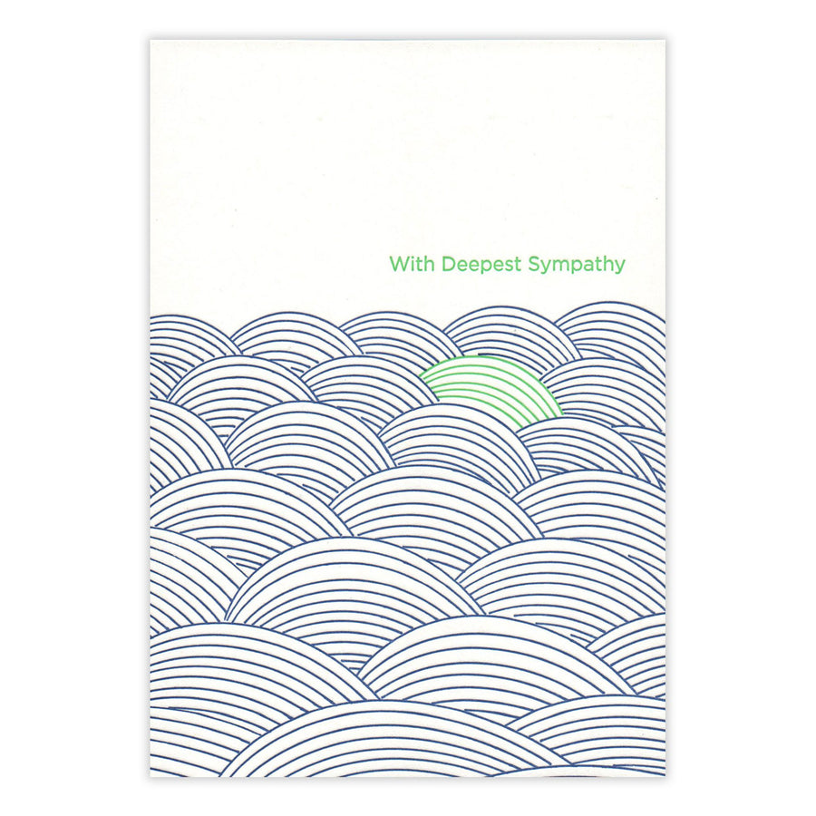Sympathy Waves Card by Waterknot