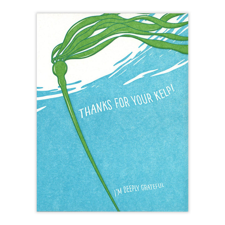 Kelp Thanks Card by Waterknot