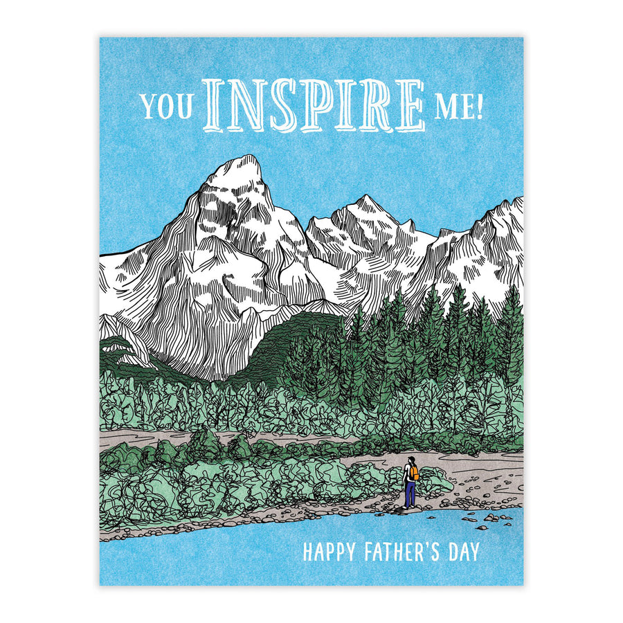 You Inspire Me Dad Card by Waterknot