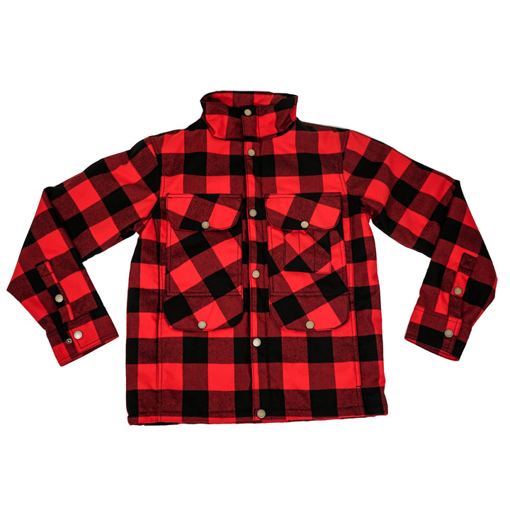 WILD Apparel Red Plaid Portlandia Cruiser Jacket