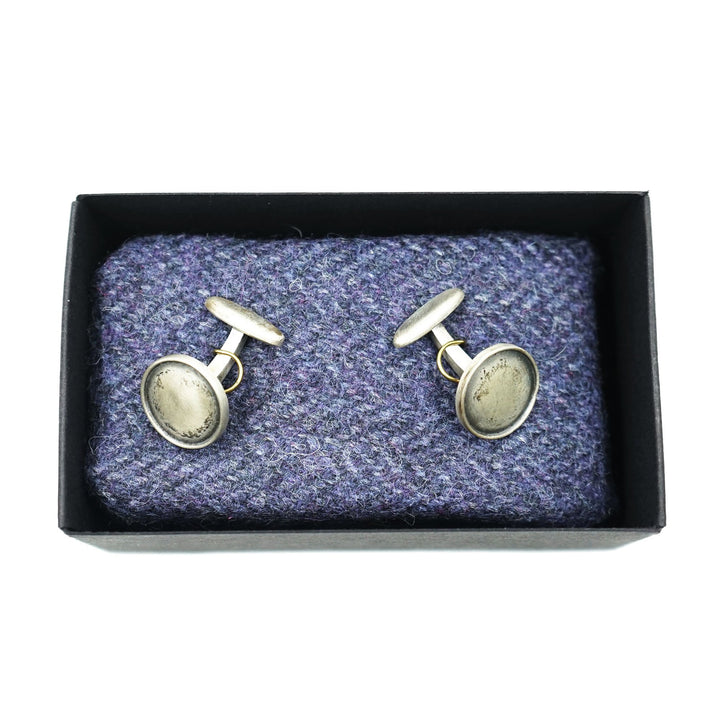 Sterling Silver Brushed Cufflinks Wildwood & Co.