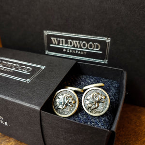 Sterling Silver Lion Cufflinks Wildwood & Co.