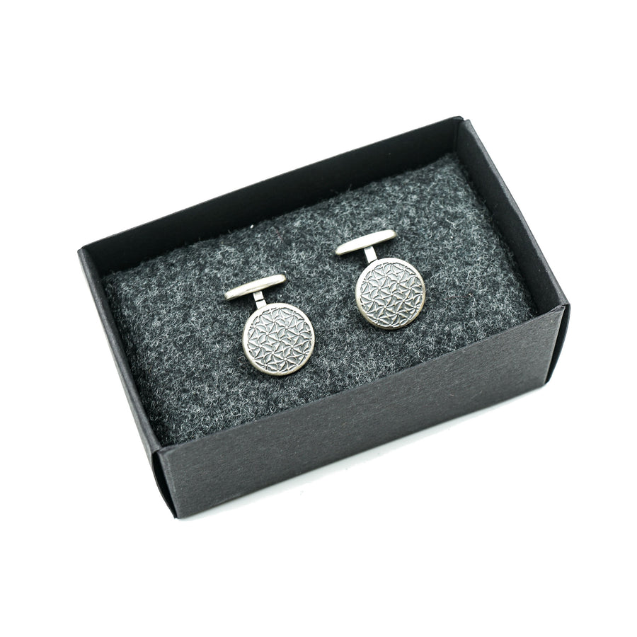 Sterling Silver Cufflinks Geometric by Wildwood & Company