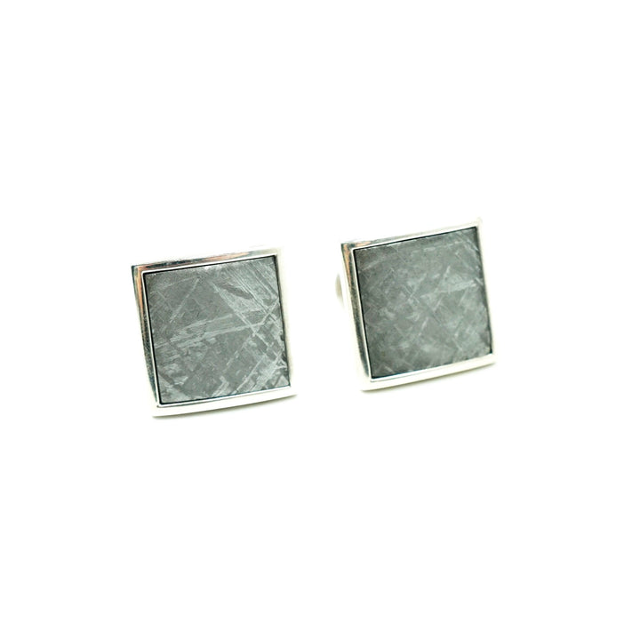 Meteorite Duo Cuff Links by William Henry