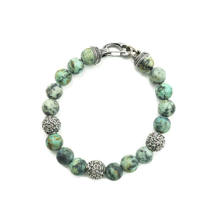 Verdigris Turquoise Bracelet by William Henry