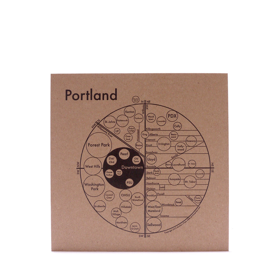 Archie's Press Portland Map Print
