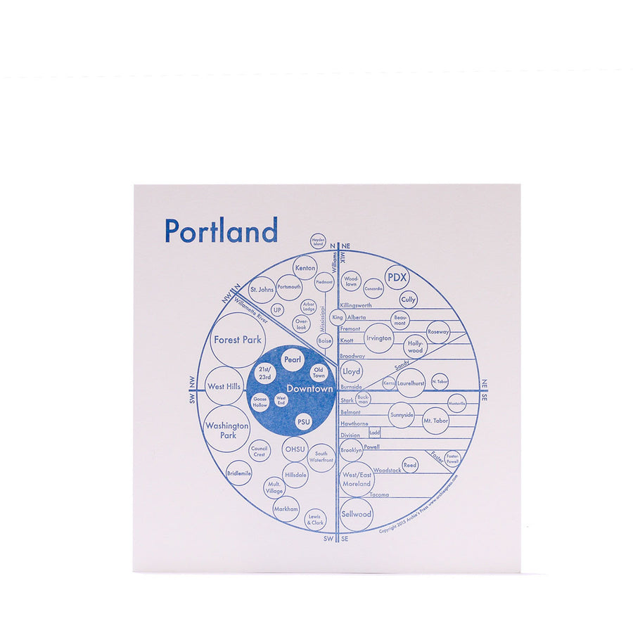 Archies Press Portland Map Print