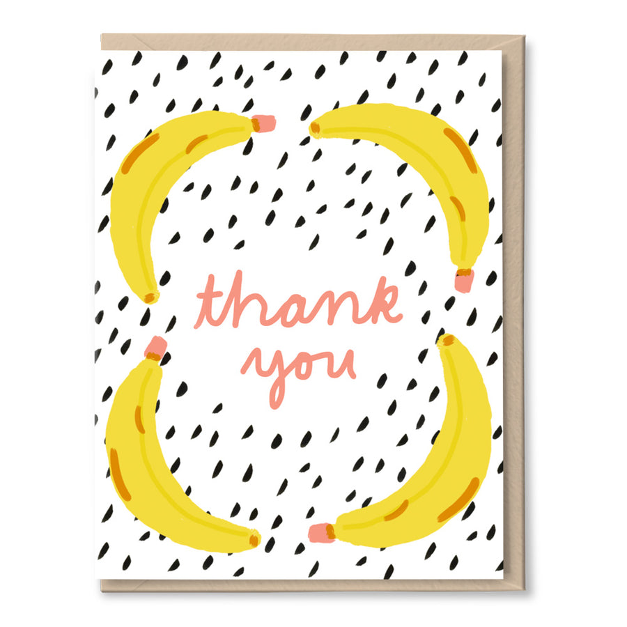 Banana Thanks Card