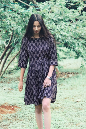 Black Fit & Flare Fern Dress