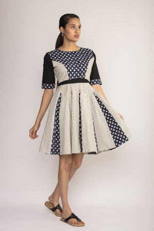 Fit and Flare Dress in Ikat