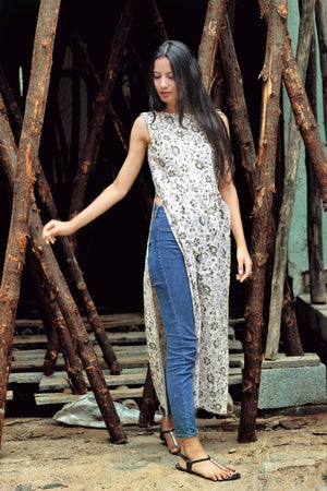Hand Block Printed Maxi Top