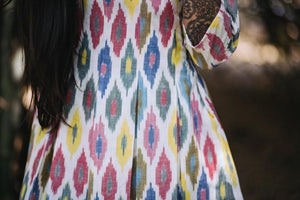 Handwoven Ikat Pleated Dress - Mogra Designs