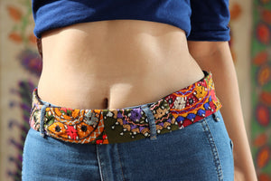 Kutch Hand Embroidered Belt By Qurcha