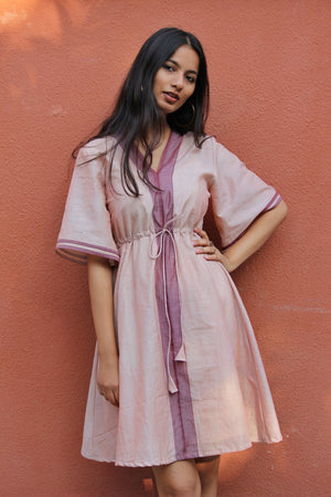 Mauve Saree Kaftan Dress