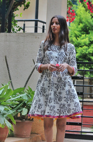 Hand Block Printed Swing Dress