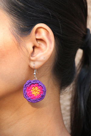 Purple Haze Coiled Earrings By Qurcha