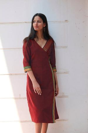 Sangria Saree Wrap Dress