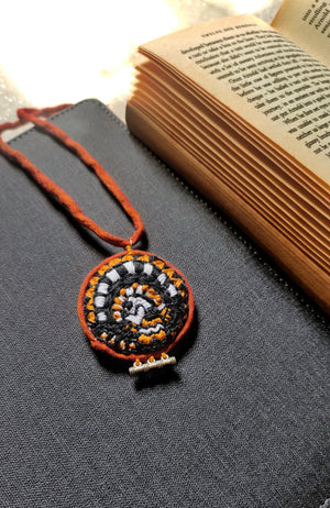 Hand Embroidered Banjara Necklace By Qurcha
