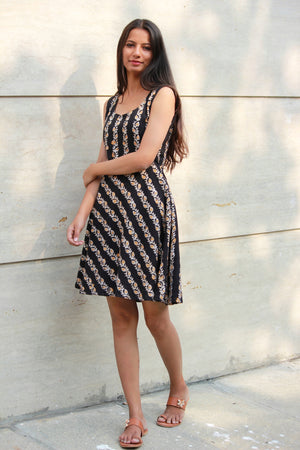 Batik Black Striped Dress