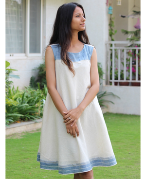 Kala Cotton Seacoast Yoke Swing Dress by Mogra Designs