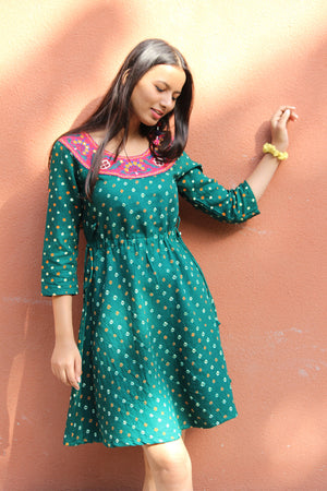 Bandhani Embroidered Dress