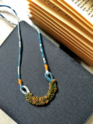 Minimal Macrame Long Necklace By Qurcha