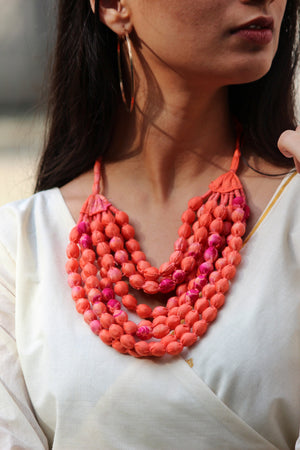 Gulmohar Necklace By Qurcha
