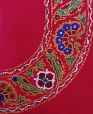 Boho Style Flared Top with Banjara Hand Embroidery - Mogra Designs