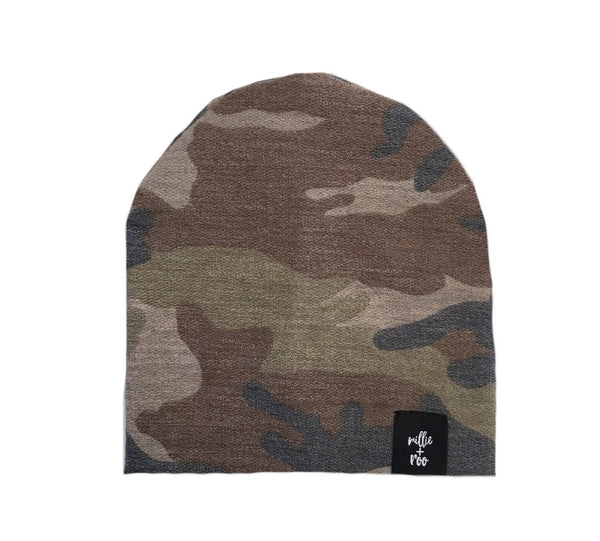 Dusty Brown Camo Beanie