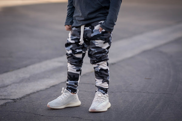 Slate Camo French Terry Joggers