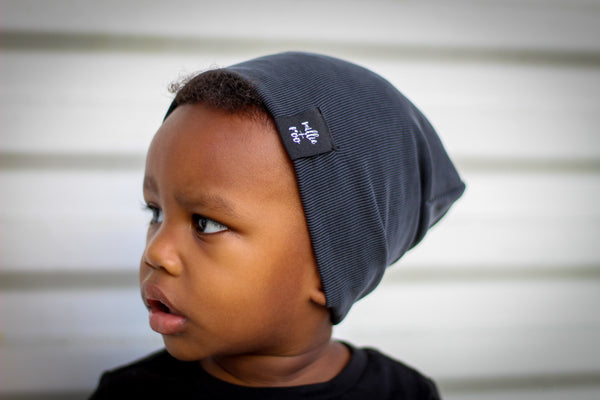 Charcoal Cupro Beanie