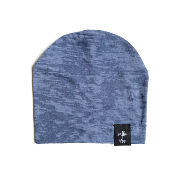Blue Burnout Beanie