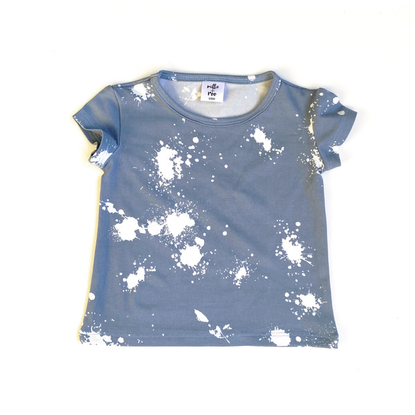 Blue Splatter Basic Tee - Short Sleeve