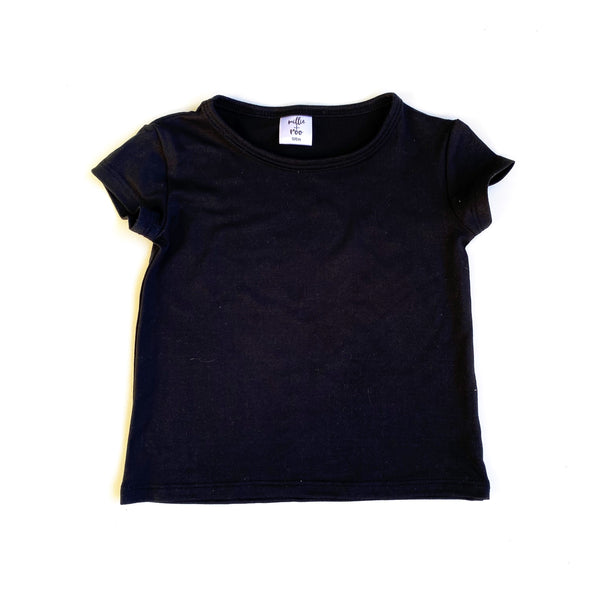 Black Brushed Basic Tee - Short Sleeve