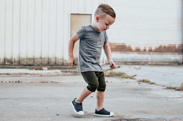 Grey Triblend Basic Tee - Short Sleeve