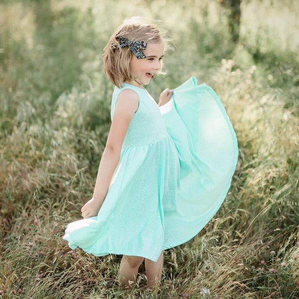 Tank- Mint Triblend Twirl Dress