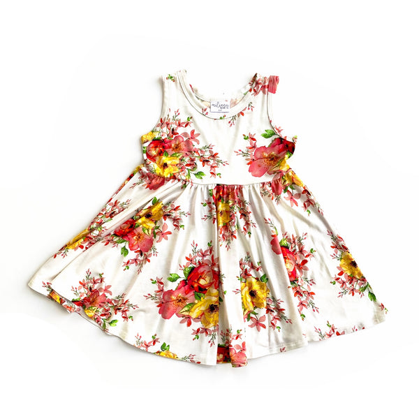 Tank- Summer Floral Twirl Dress