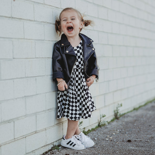 Tank- B+W Checkered Twirl Dress