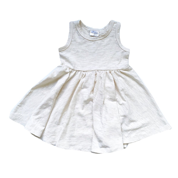 Tank- Natural Cotton Slub Twirl Dress