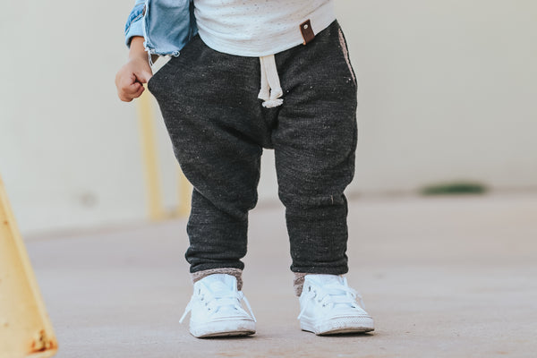 Black Sand Slub French Terry Joggers