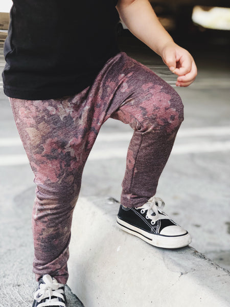 Dusty Floral Harem Pants