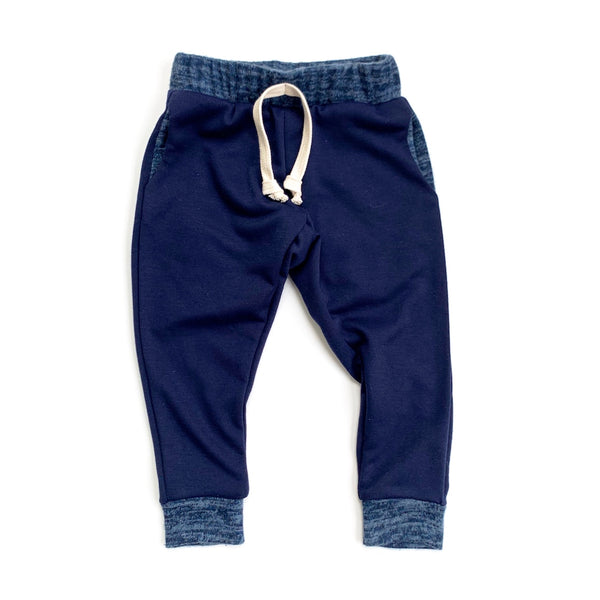 Royal Blue Stretch French Terry Joggers