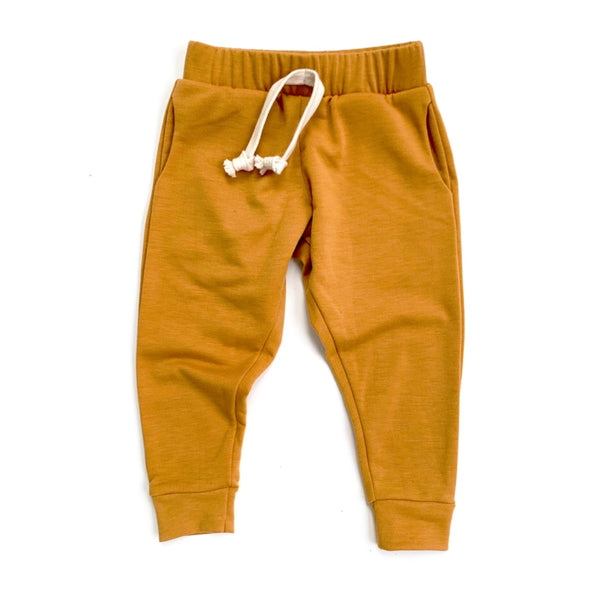 Mustard Stretch French Terry Joggers