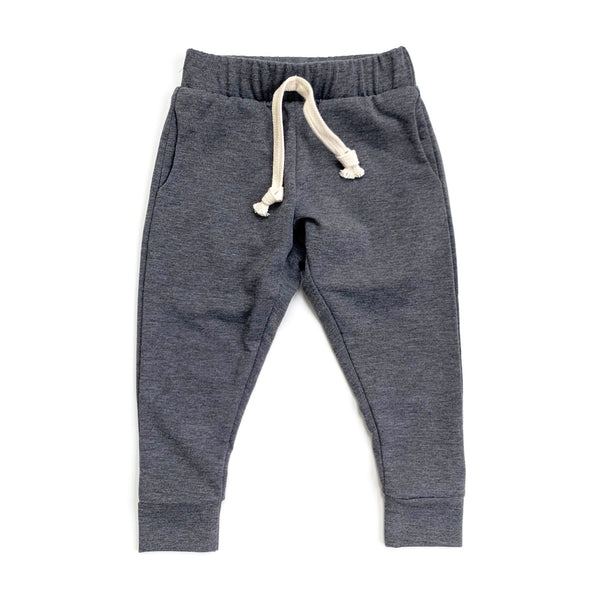 Charcoal Stretch French Terry Joggers