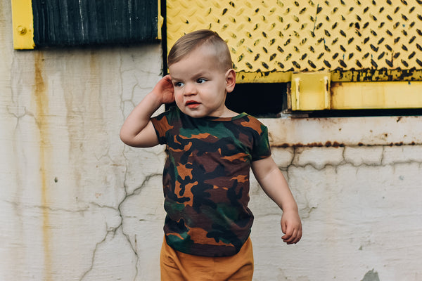 Rustic Camo Basic Tee - Short Sleeve