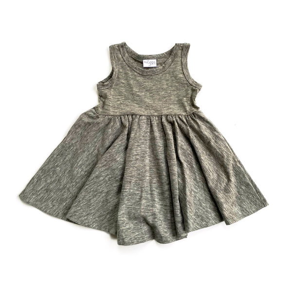 Tank- Sage Cotton Slub Twirl Dress