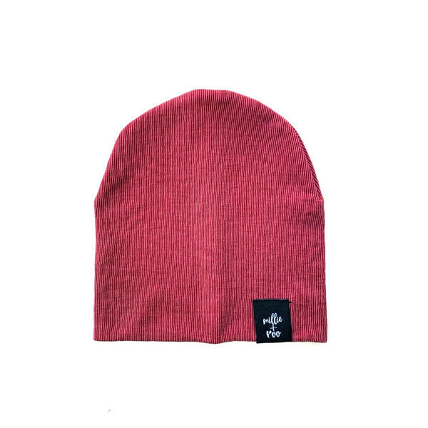 Faded Red Cupro Beanie